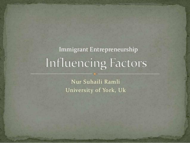 Business History: Influencing Factors
