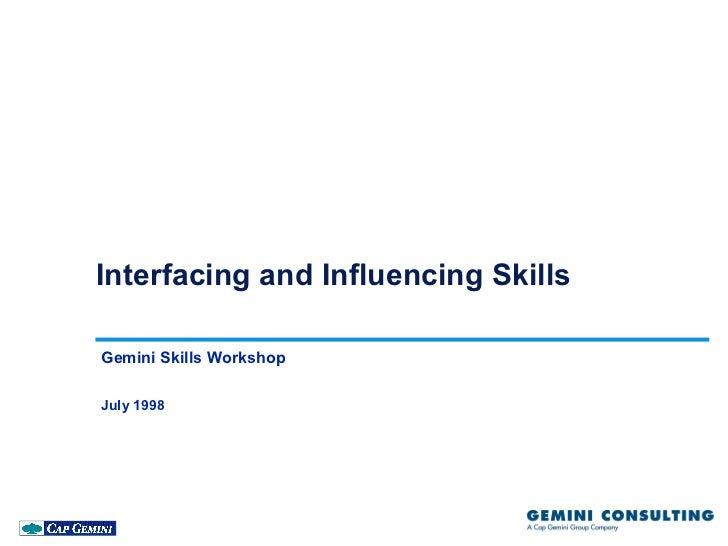 Influencing skills gsw