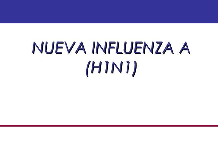 NUEVA INFLUENZA A (H1N1)