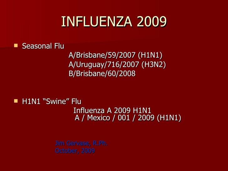Influenza Ppt 10 09