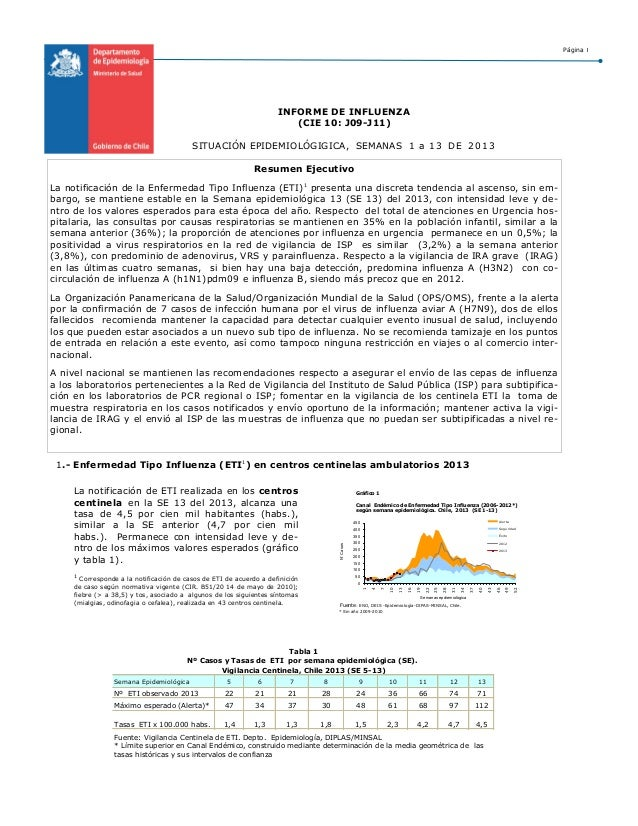 VIGILANCIA INFLUENZA MINSAL 2013