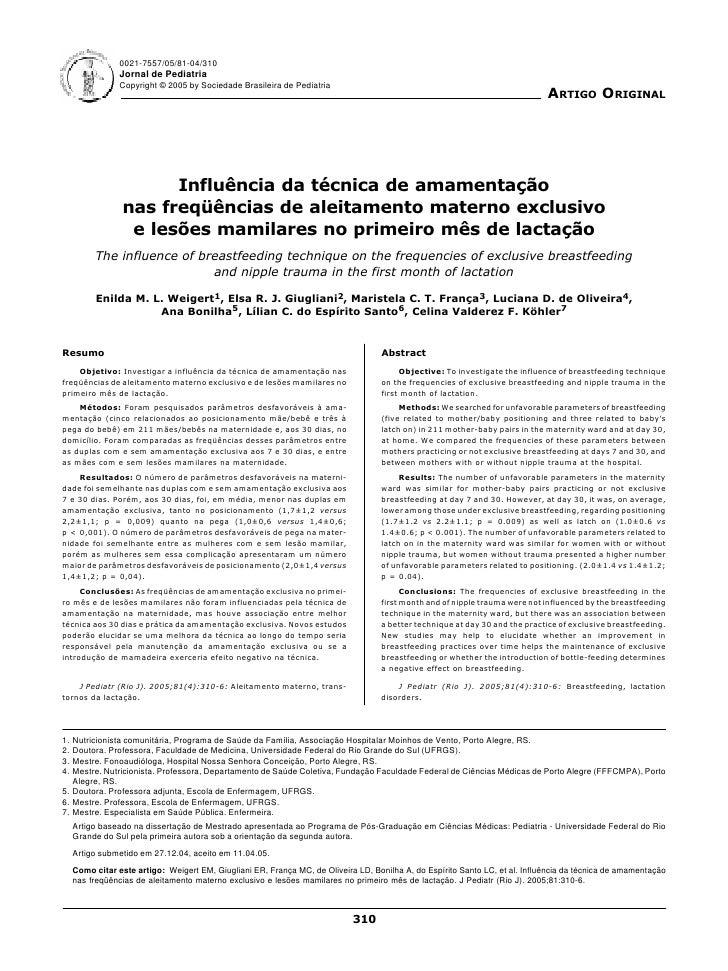 0021-7557/05/81-04/310                  Jornal de Pediatria                  Copyright © 2005 by Sociedade Brasileira de P...