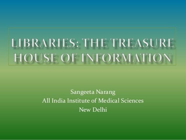 Sangeeta Narang All India Institute of Medical Sciences New Delhi