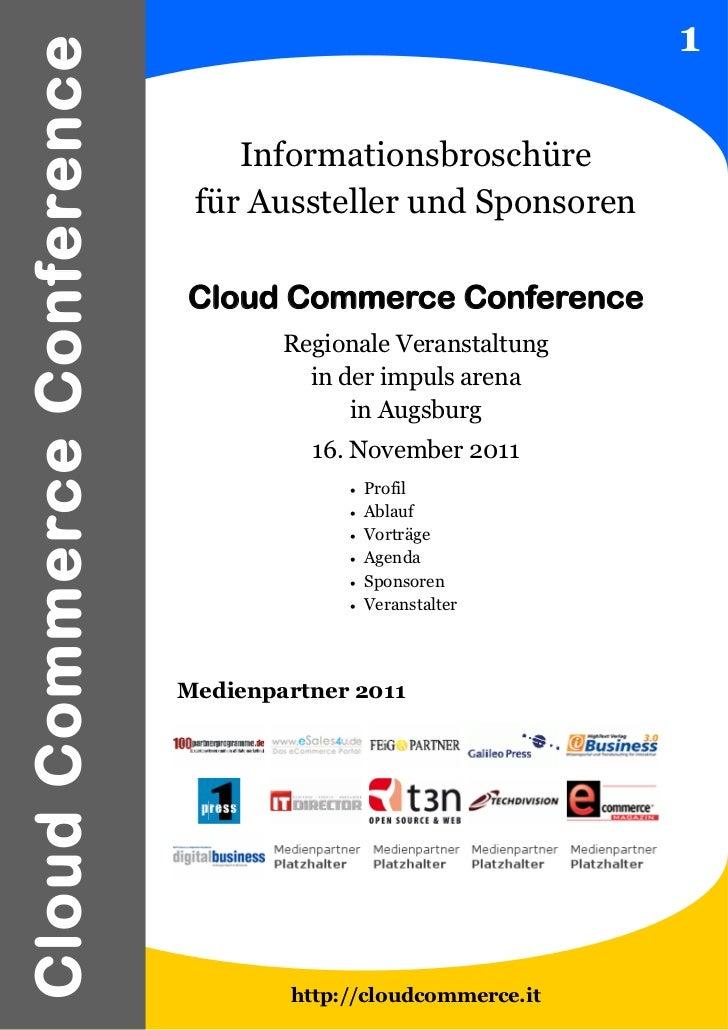 1Cloud Commerce Conference                                Informationsbroschüre                             für Aussteller...