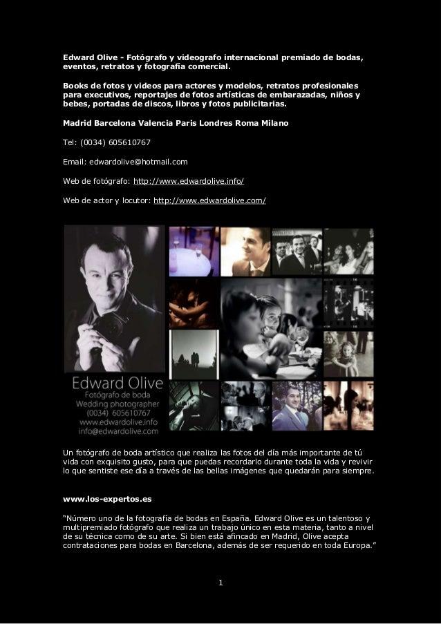 1 Edward Olive - Fotógrafo y videografo internacional premiado de bodas, eventos, retratos y fotografía comercial. Books d...