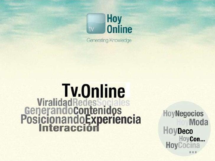 Presentación proyectode Marketing Online de HoyOnline.TV
