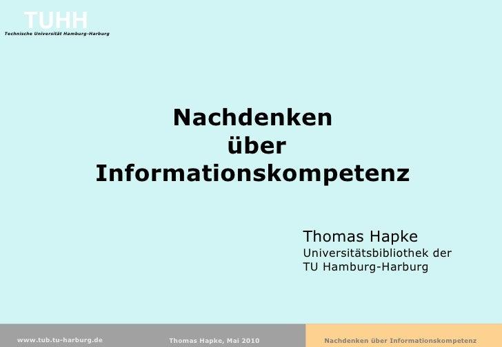 Nachdenken über Informationskompetenz