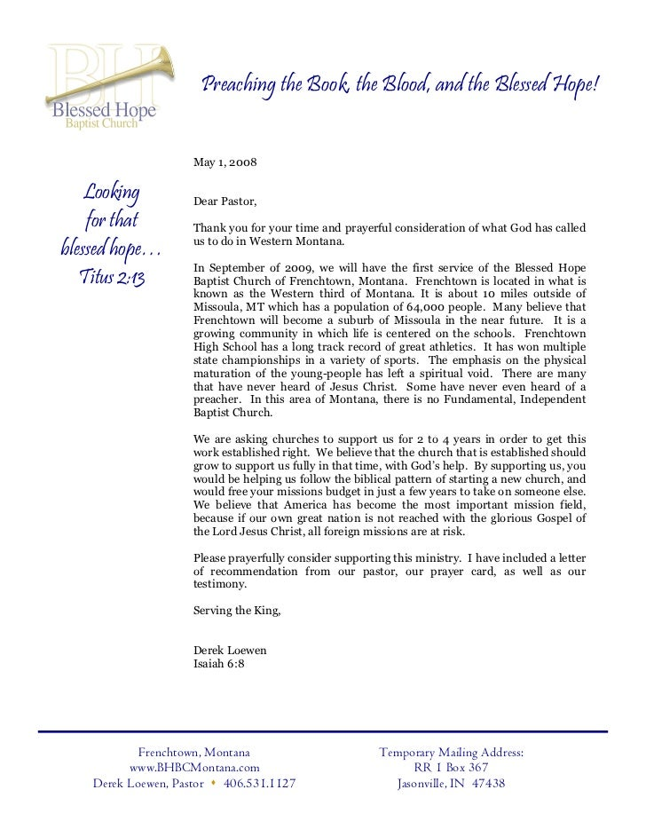 Gallery of Letter To Pastor