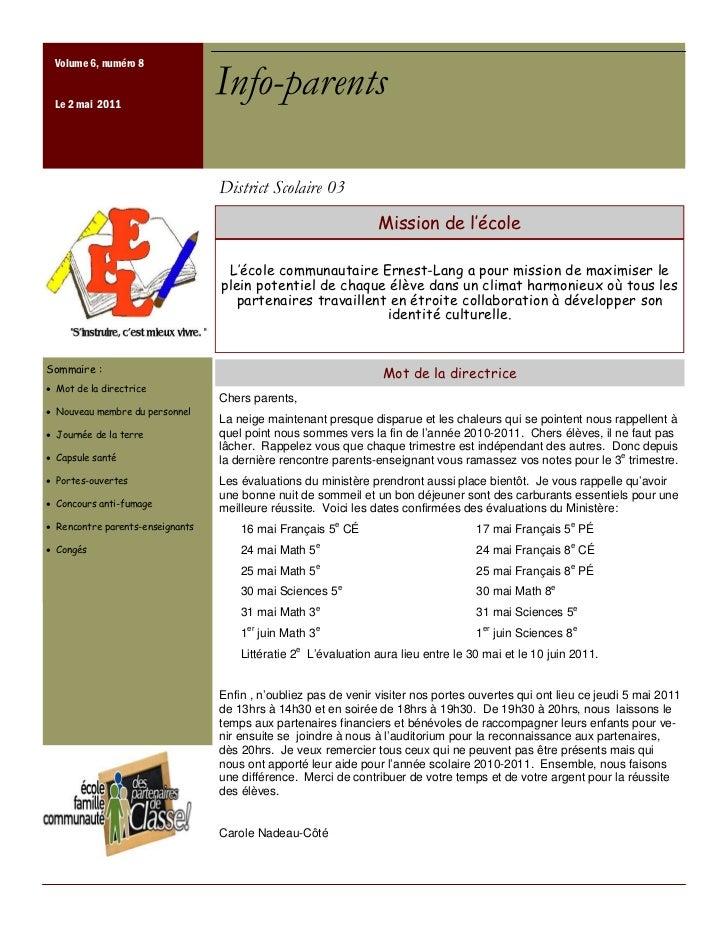 Info parents mai-2011[1]