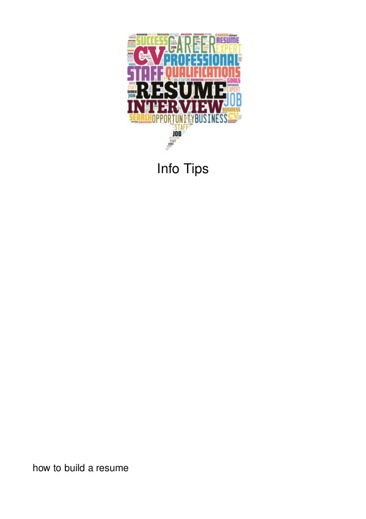 Info Tipshow to build a resume