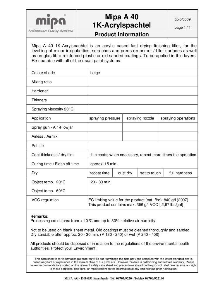 Info Mipa A40