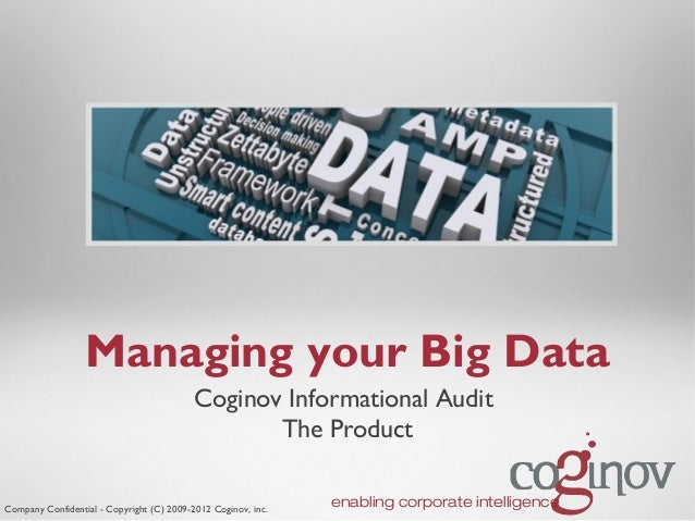 Managing your Big Data                                           Coginov Informational Audit                              ...
