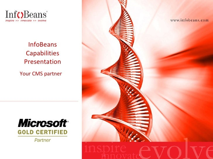 InfoBeans CMS Capabilities Presentation