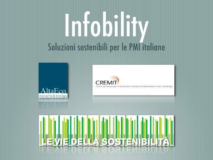 Infobility - Soluzioni sostenibili in ambito ICT per le PMI