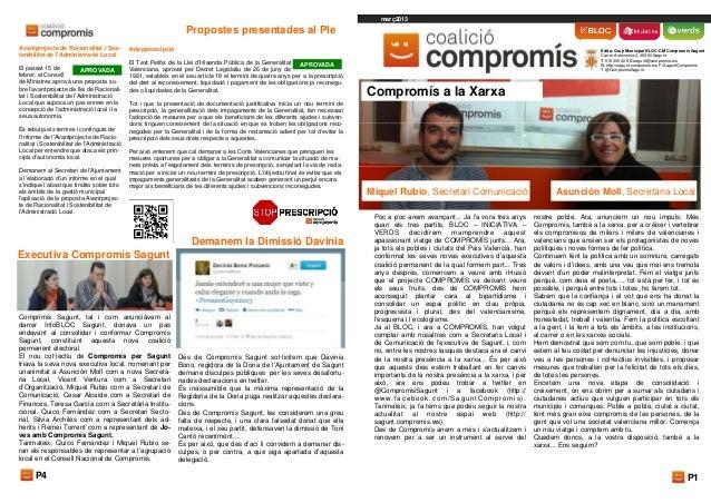 InfoCOMPROMIS Sagunt Març 2013