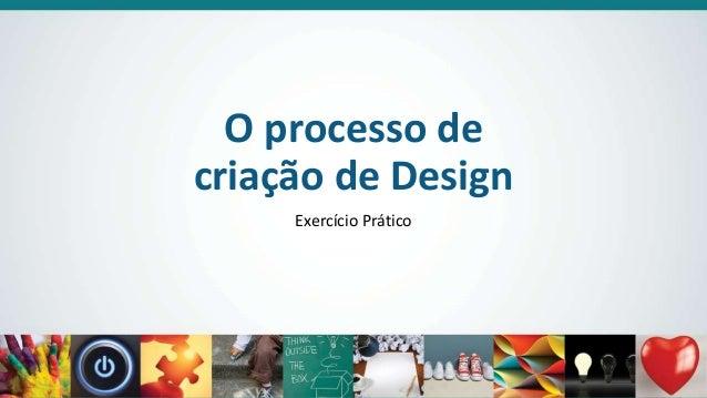 O processo de criação de Design Exercício Prático
