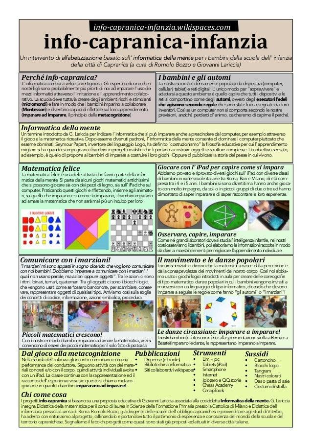 info-capranica-infanzia.wikispaces.com  info-capranica-infanzia  Un intervento di alfabetizzazione basato sull' informatic...