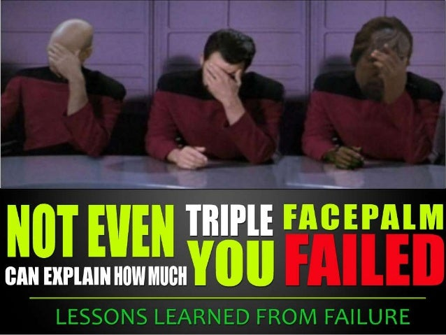 Lessons learned from failure - Tips for Startups