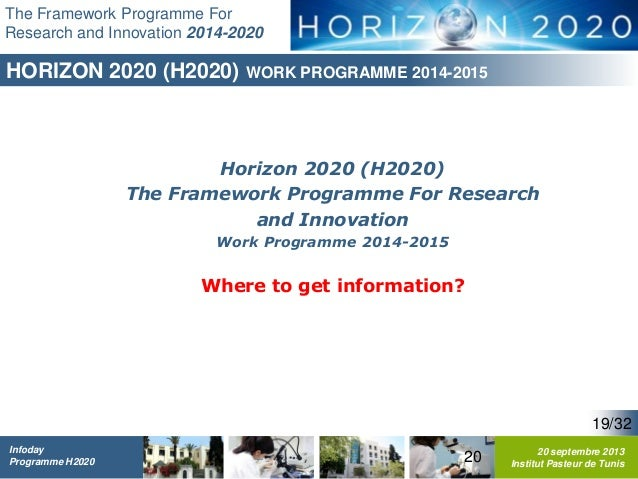 Framework Research Programme The Framework Programme