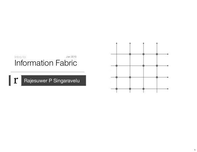 Information Fabric Intro to Rajesuwer P Singaravelu Jan 2010 1