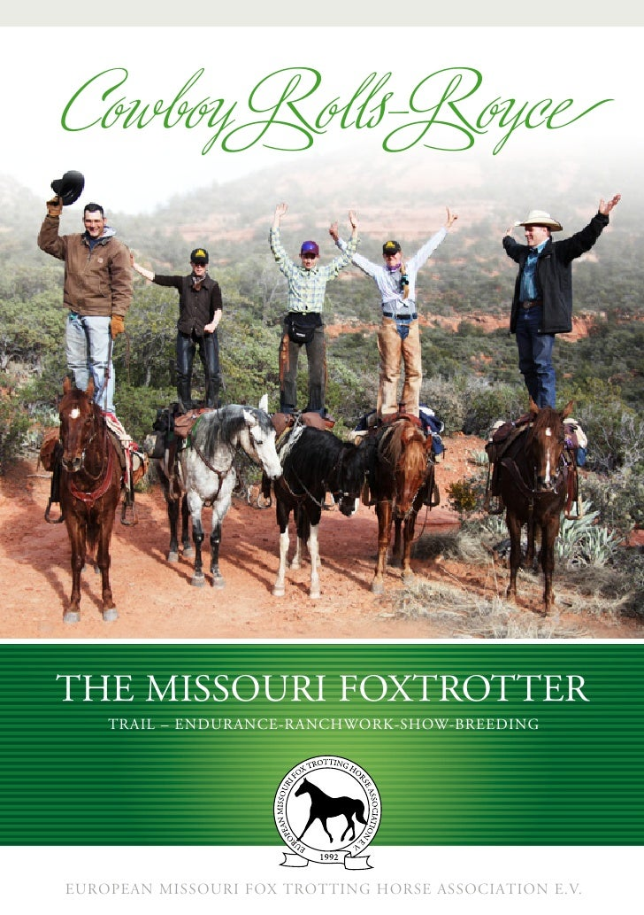 Cowboy Rolls-RoyceThE MiSSouri FoxTroTTEr    Trail – EndurancE-ranchwork-Show-BrEEdingEuropean Missouri Fox Trotting Horse...