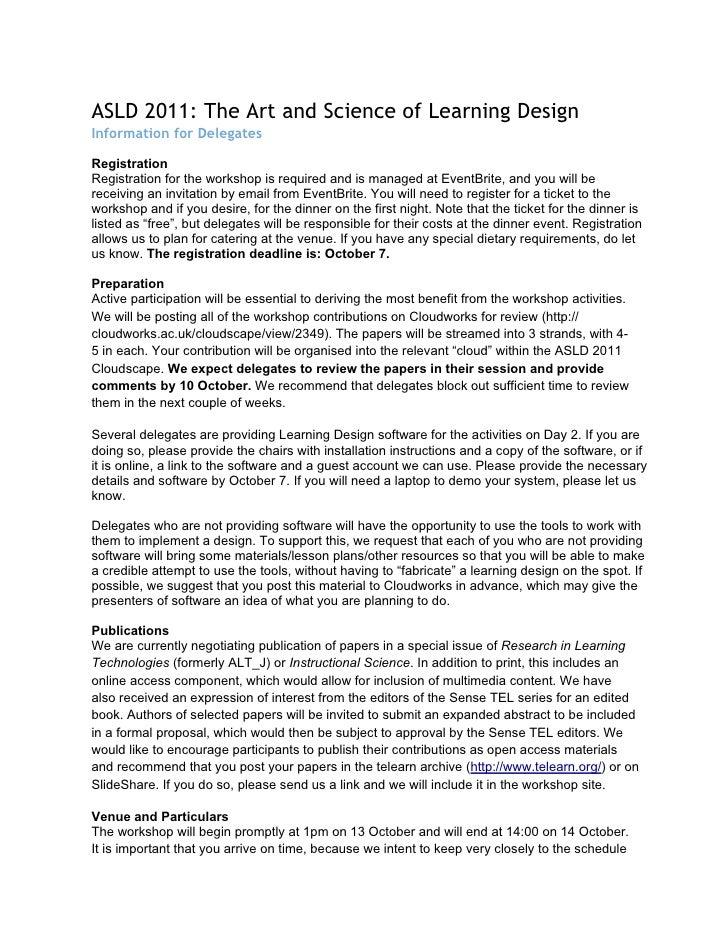 ASLD 2011: Info for delegates