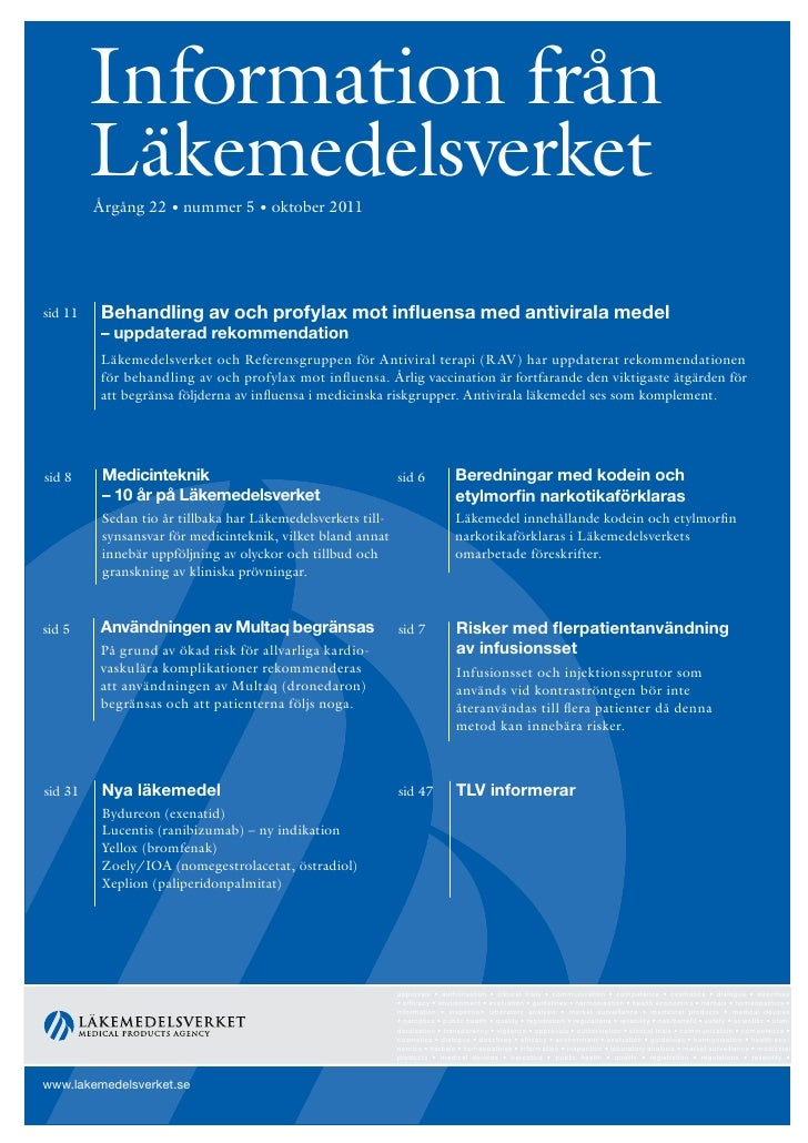 Information från Läkemedelsverket nr 5 2011