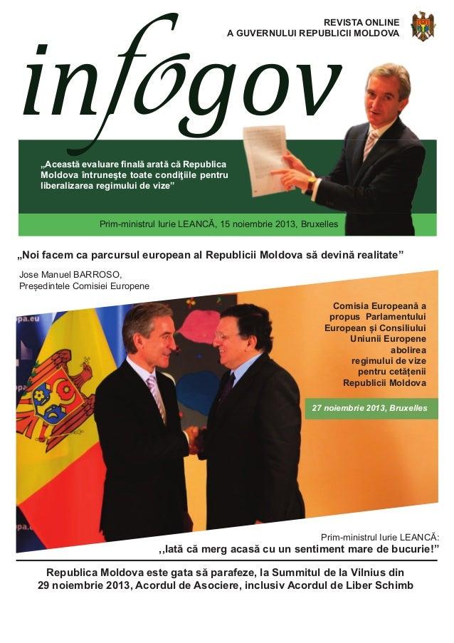 """infogov  REVISTA ONLINE A GUVERNULUI REPUBLICII MOLDOVA  """"Această evaluare finală arată că Republica Moldova întruneşte to..."""