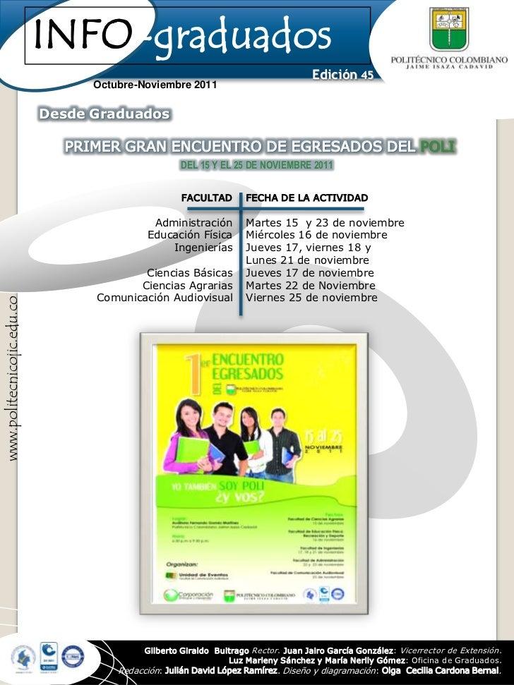 INFO-graduados                                                                                     Edición 45             ...