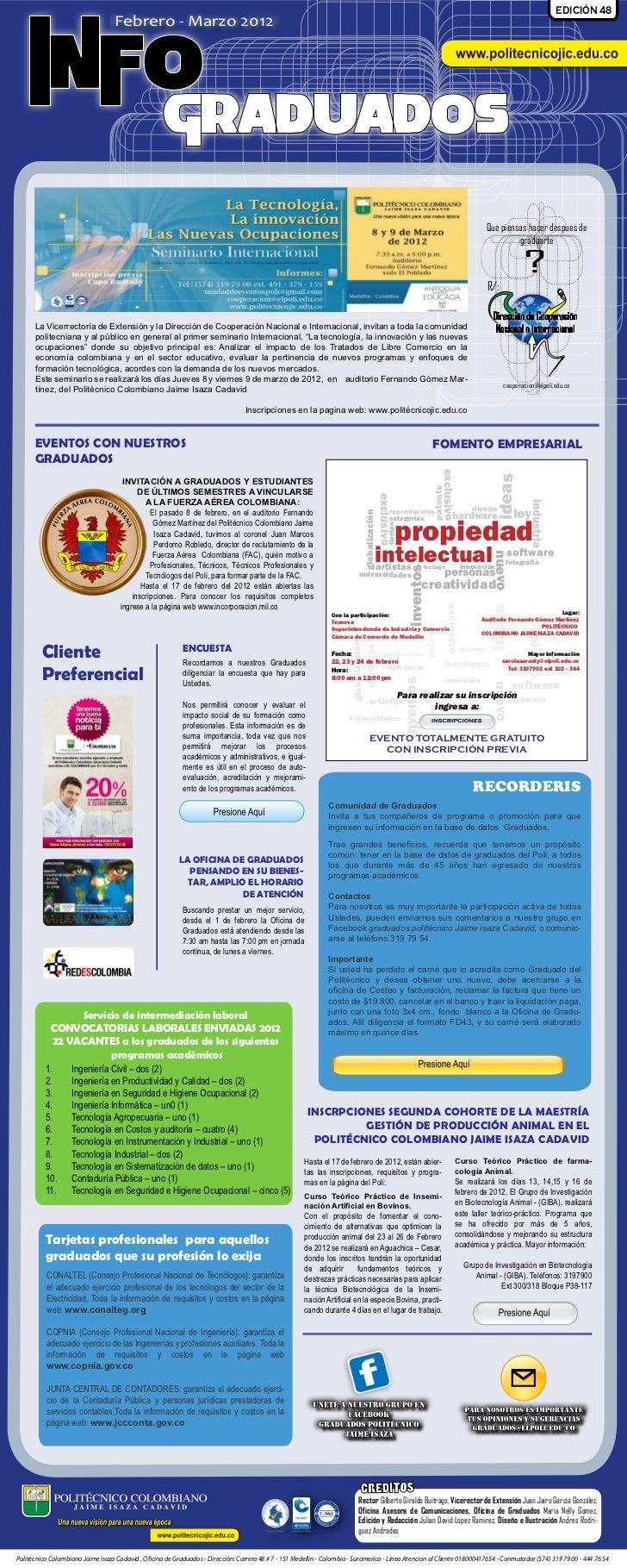 EDICIÓN 48                                   Febrero - Marzo 2012    INFO                                                 ...