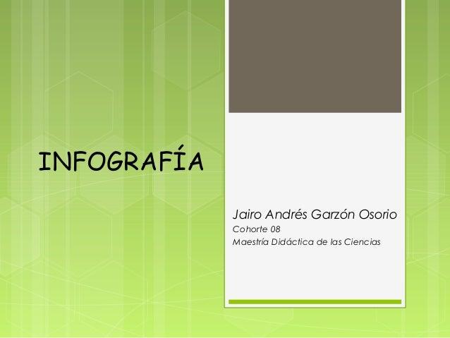 INFOGRAFÍAJairo Andrés Garzón OsorioCohorte 08Maestría Didáctica de las Ciencias