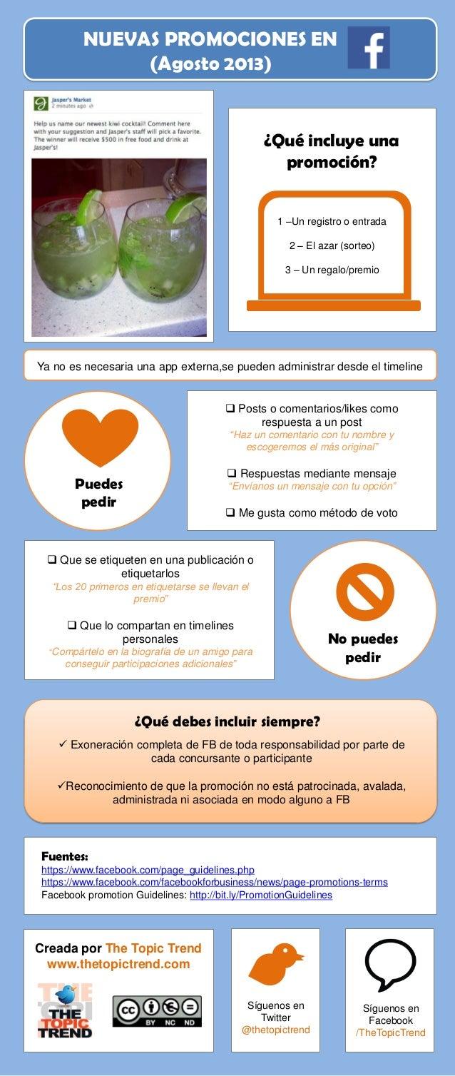 Infografía Nuevas promociones Facebook (Agosto 2013)