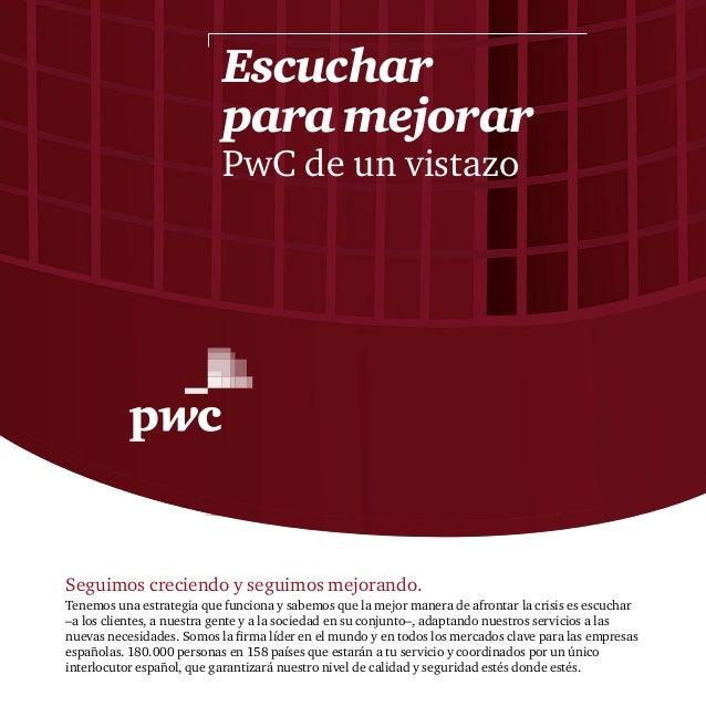 Informe anual de PwC en España y el mundo en 2012