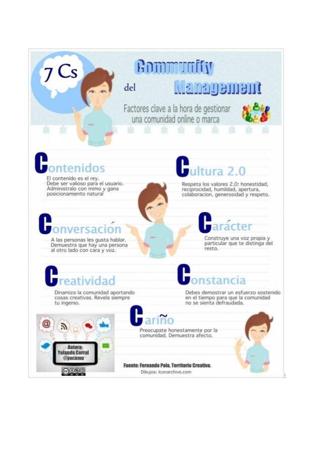 Infografía: las 7 Cs del Community Management