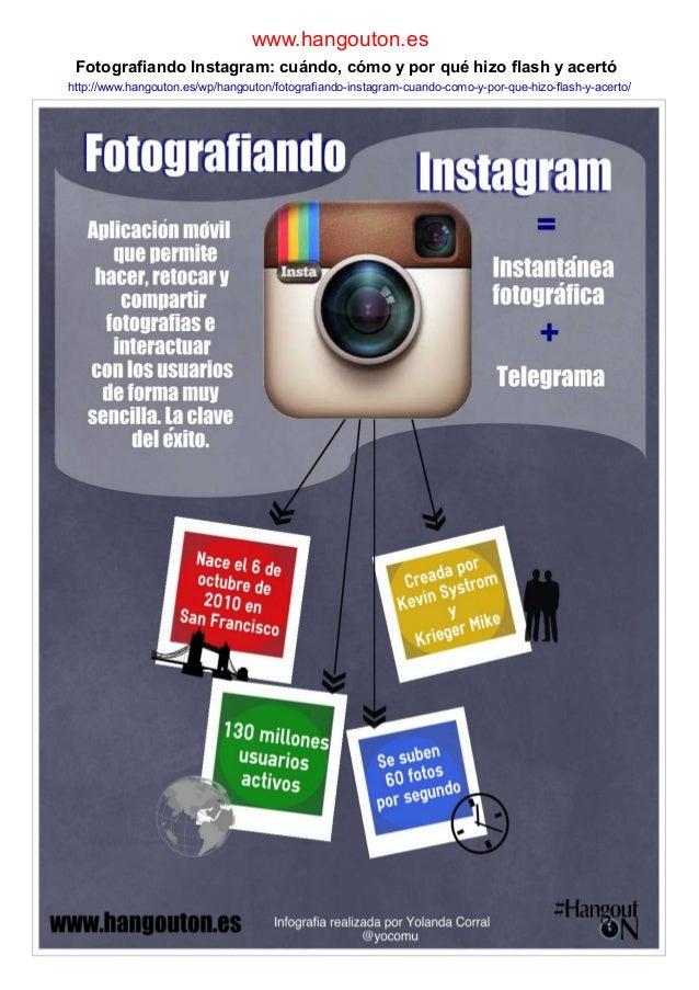 www.hangouton.es Fotografiando Instagram: cuándo, cómo y por qué hizo flash y acertó http://www.hangouton.es/wp/hangouton/...
