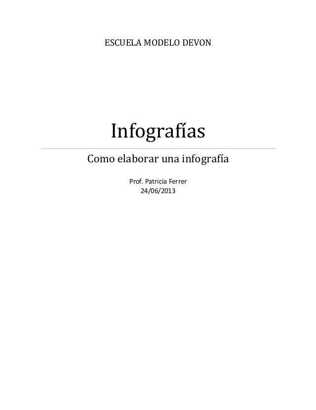 ESCUELA MODELO DEVONInfografíasComo elaborar una infografíaProf. Patricia Ferrer24/06/2013
