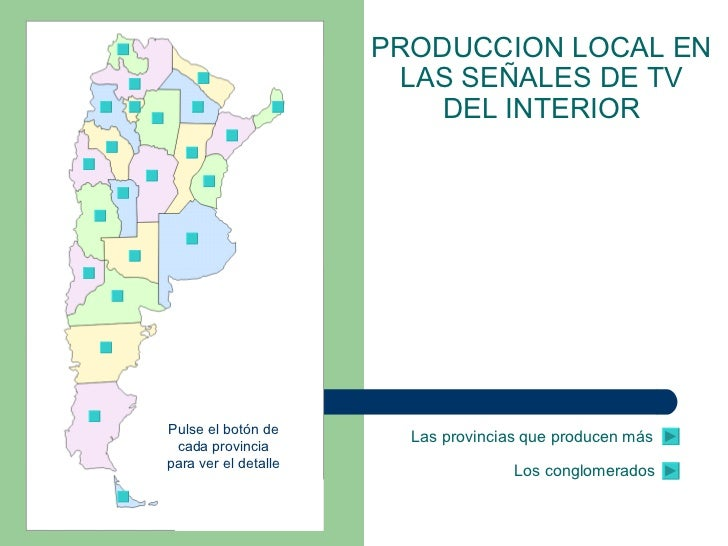 La programación local en la TV del interior