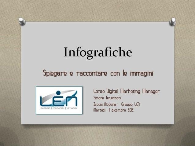 InfograficheSpiegare e raccontare con le immagini                Corso Digital Marketing Manager                Simone Ter...