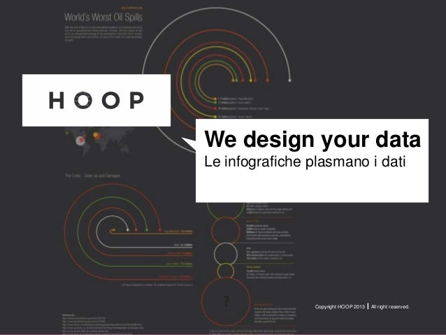 Copyright HOOP 2013  All right reserved.We design your dataLe infografiche plasmano i dati