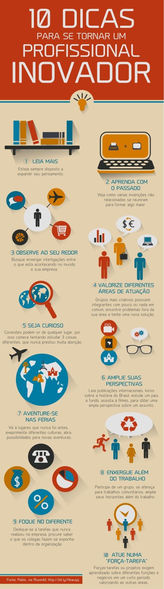 Infográfico: 10 Dicas para ser um profissional inovador