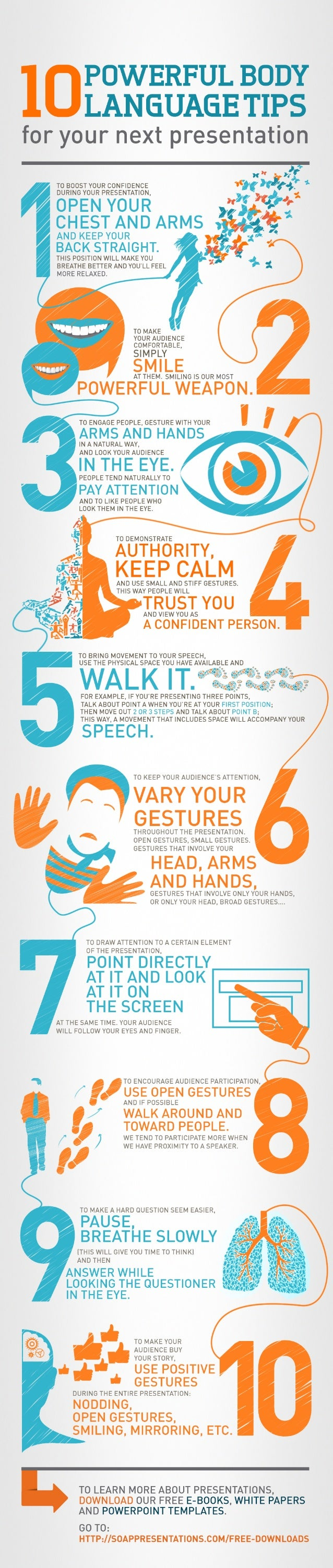 body language secrets 10 powerful tips your next presentation tips tipsographic