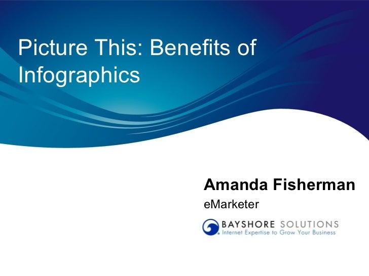 Picture This: Benefits ofInfographics                   Amanda Fisherman                   eMarketer