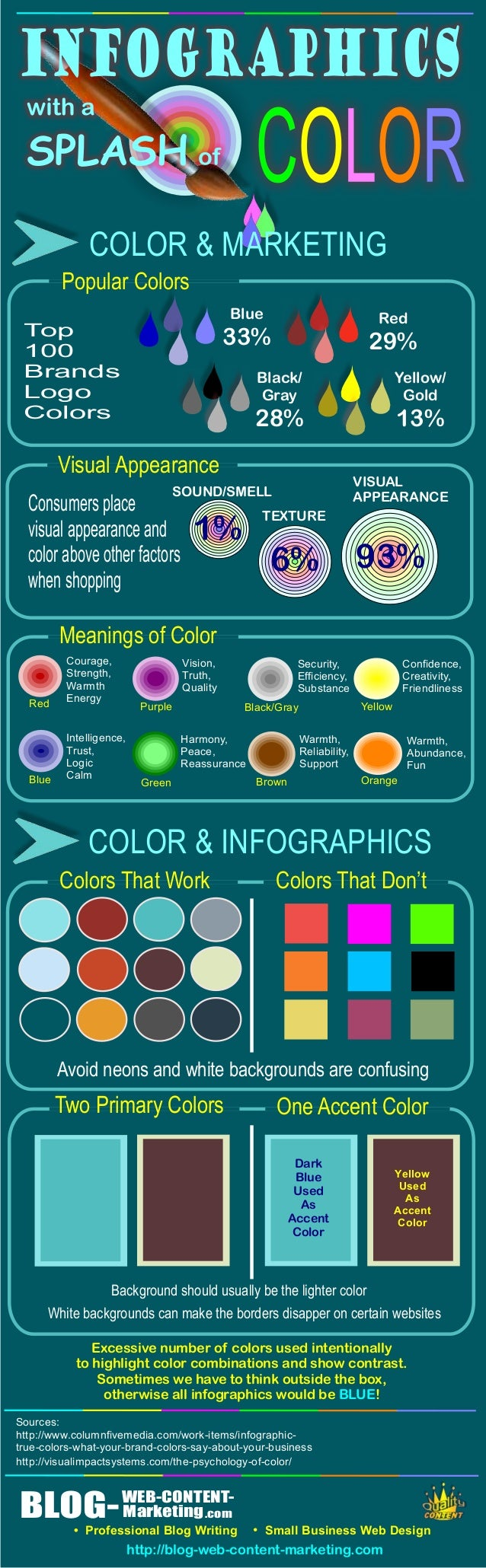 Infographics With A Splash Of Color
