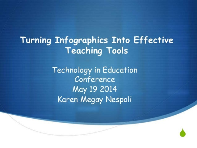 S Turning Infographics Into Effective Teaching Tools Technology in Education Conference May 19 2014 Karen Megay Nespoli