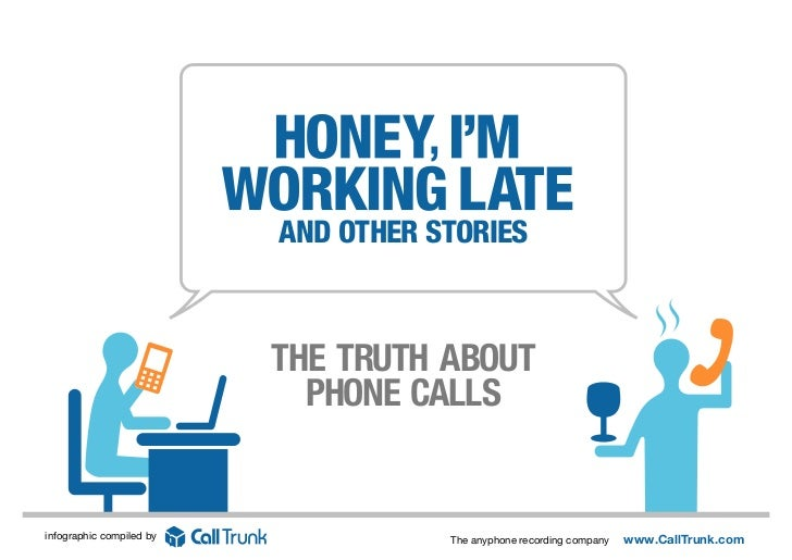 Honey, I'm working late - the truth about lying on the phone