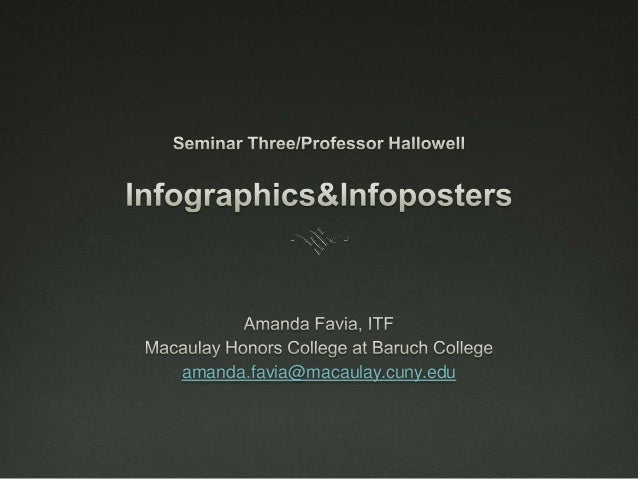 Infographics/Infoposters (in PowerPoint)