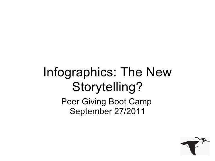 <ul>Infographics: The New Storytelling? </ul><ul>Peer Giving Boot Camp September 27/2011 </ul>