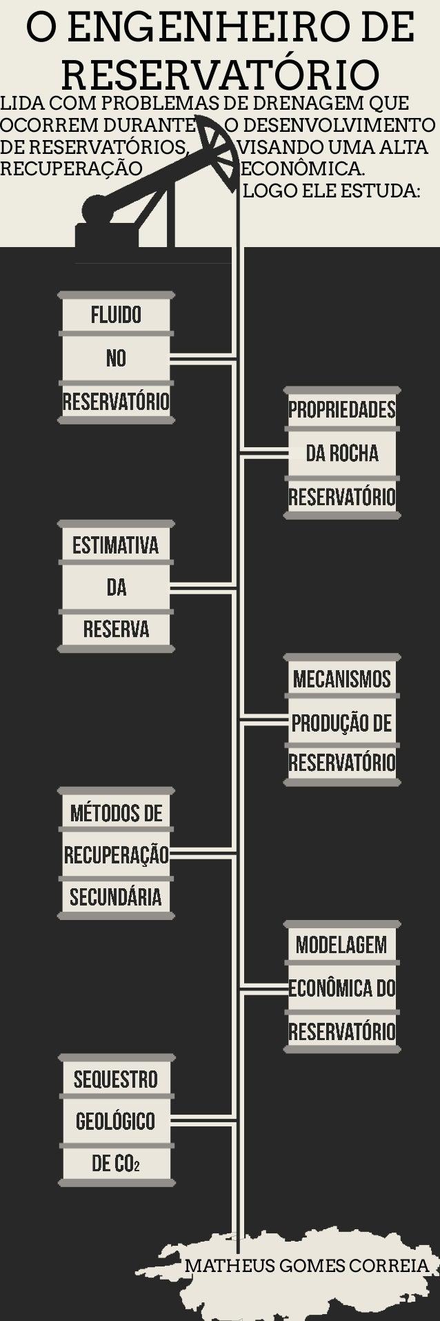 Infográfico - Engenheiro de Reservatório