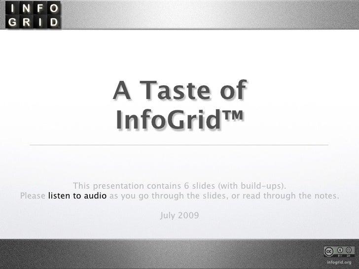 A Taste Of InfoGrid