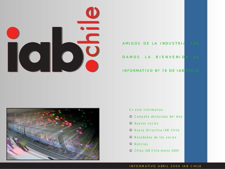 Informativo IAB Chile Abril 2009